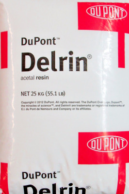 DuPont Delrin Acetal Resin UV-Stabilized Injection Molding Pellets Natural 55LBS