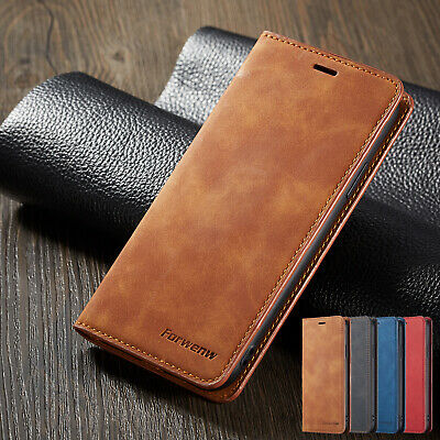 For iPhone XS Max XR 8 7 6S Magnetic Flip Leather Card Pocket Case Stand Cover