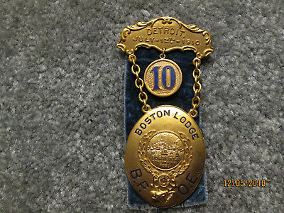 Rare Antique 1910 Elks National Convention Pin From The Mother Lodge #10  Bpoe