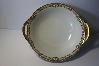 "Theodore Haviland France Limoges round serving bowl 9.24"" diameter"