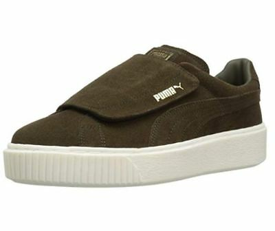 buy online 7a92e 2a6db PUMA SUEDE PLATFORM Strap Wns Night Marshmallow Green Olive ...