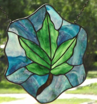 ``Mapel LEAF``Stained Glass Panel