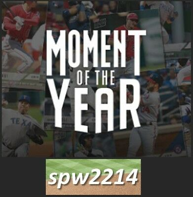 2018 Topps Now Moment of the Year Set (10 cards) MOY1-MOY10 Ohtani, Trout, Soto