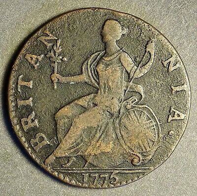 ***Authentic American Revolutionary War Coin 1775 1st Year of War (75aLNCVS In#)