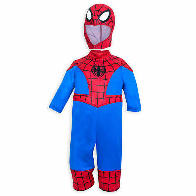 Disney Authentic Spiderman Super Hero Baby Costume Outfit 18-24 Months