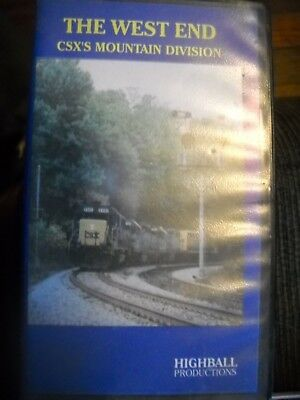 The West End CSX's Mountain Division VHS tape West Virginia