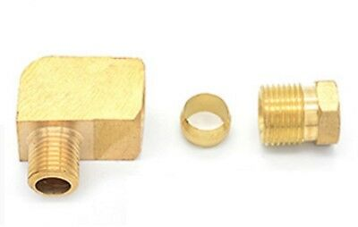 "Auto Grease 1/4"" Lubrication Brass oil Pipe Lube Fitting 6mm Tube Compression L"