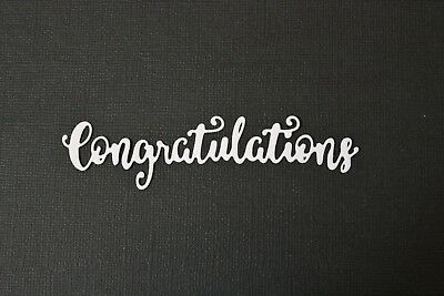 6 x Congratulations Sentiment Die Cuts Card Making Toppers Scrapbooking Words