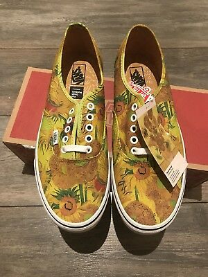 531d35afe463ce Brand New Vans Vault UA Authentic Vincent Van Gogh Sunflower Size UK 8