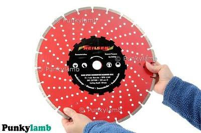 "14"" 350mm Diamond Cutting Disc Grinder Saw Blade Discs Tiles Stone Brick Disks"