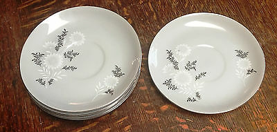 Lot of 6pcs Vintage Seyei Fine China STARLITE Saucer Plates Dish 3171 Japan EUC