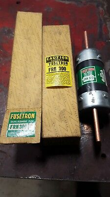 New Bussmann Fusetron FRN-R-300 Amp Fuse 250 Volts Class K5 NIB.  Lot of 2
