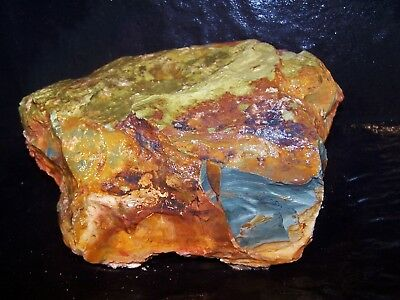 Brand New Deposit - Gary Green Caldera Jasper Rough - McDermitt, OR - 7.4 lbs