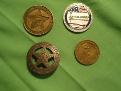 Texas Ranger Badge- Abraham Lincoln -18611865-Four Points - Masonic Lodge Medals