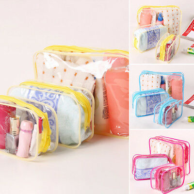 Bag Transparent Cosmetic Makeup Travel Pouch PVC Toiletry Clear Case Waterproof