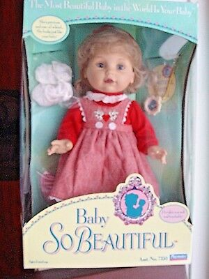 New Old Stock 1995 Playmates Baby So Beautiful Doll- No.7350 MINT