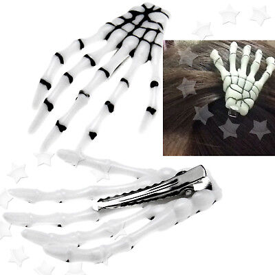 Pair of Creative Zombie Skeleton Hand Bone Claw Clip Pin Grip Hairpin