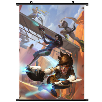 4224 Game OVERWATCH Widowmaker Home Decor Poster Wall Scroll cosplay