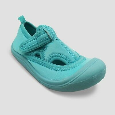 Cat & Jack Girls' Poppy Sock Water Shoes, S, Turquoise - Comfortable