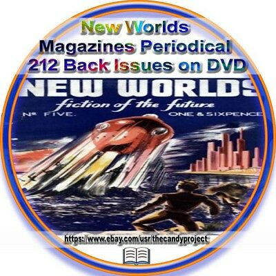 New Worlds Science Fiction Magazine 212 Pdf 4 DVDs Pulp Fiction John Carnell