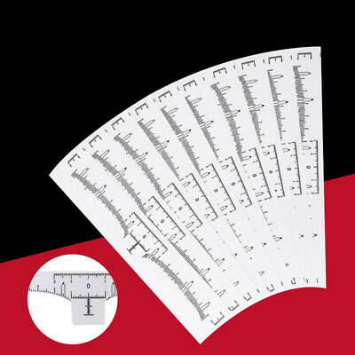 50 Pcs/Set Disposable Eyebrow Ruler Stickers Tattoo Microblading Measure White