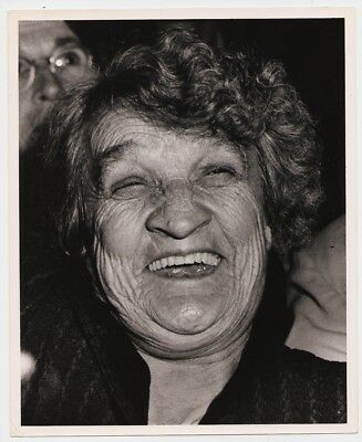 WEEGEE: Laughing Bowery Woman NYC * VINTAGE STAMPED 1940s MANHATTAN NOIR photo