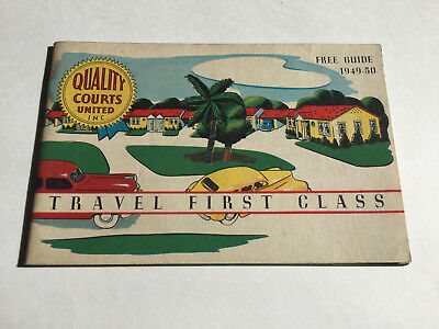 1949-1950 Quality Courts United motel guide booklet auto court motor court