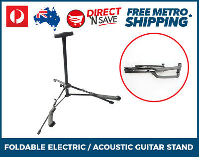Portable Folding Electric Acoustic Bass Guitar Stand Black Compact GS1A