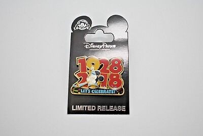 Disney Parks Mickey Mouse 90th Birthday 1928-2018 CM Limited Release Pin