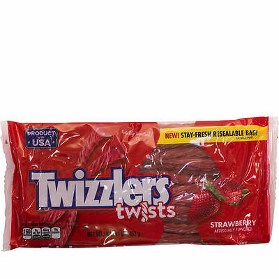 New Sealed Twizzlers Twists Strawberry Artificially Flavored 1Lb Each Bag