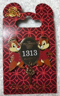 Disney Tower Of Terror  Chip And Dale Room Key Dangle Pin