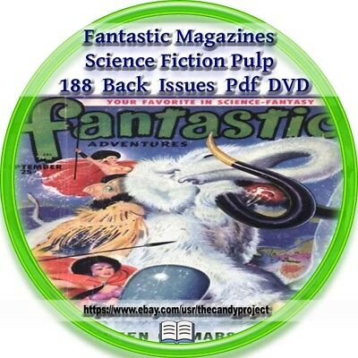 Fantastic  Magazine 188 Issues Pdf 4 DVDs Fantasy Science Fiction