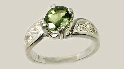 Green Sapphire Ring 1½ct Antique 19thC Miracle Gem British Confessor St. Edward