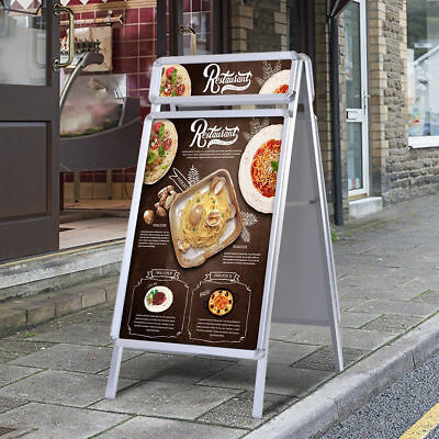 A1 Poster Stand Double Side A-Board Pavement Sign Display Waterproof Snap Frame