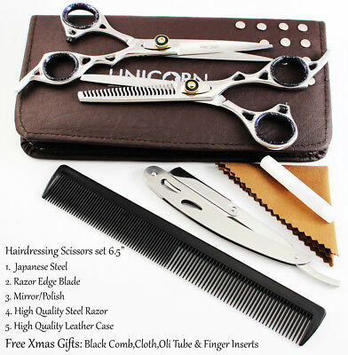 Professional Hairdressing Scissors Shears Japan Steel  Hair Cutting Thinning Set