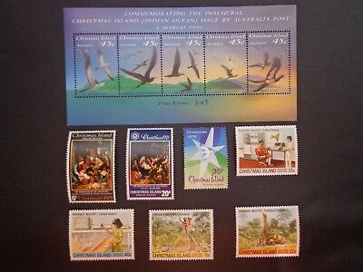 Australian. Christmas Islands Mini Stamp Sheets & 7 Various Decimals. -:-  M.u.h