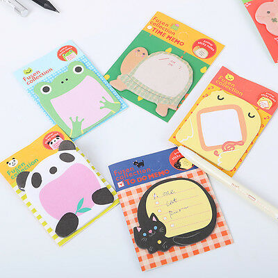 2pcs Cute Cartoon Forest Animal Memo Pad Sticky Note Page Marker Planner Gift