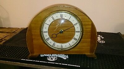 Vintage Smiths Wooden mantle clock,working order,  art deco,