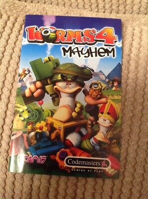 PS2 Worms 4 Mayhem Instruction Booklet Only