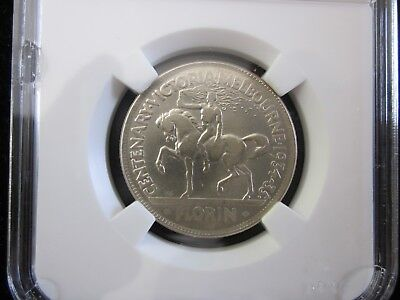 Coin Australia 1934-35 silver 2/- Centenary florin in very fine condition
