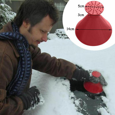 14CM Round Cone Car Windshield Ice Scraper Snow Remove Scraper Funnel Scraper