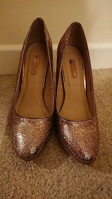 e27acadfdae ROSE GOLD SPARKLY High Heel Shoes Size 8 Dorothy Perkins - £3.20 ...