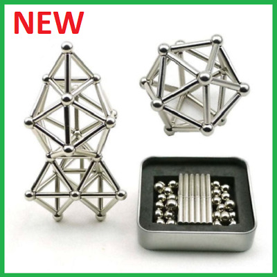 Creative Magnetic Sticks And Steel Spheres Balls Set  Building Blocks Puzzle Toy