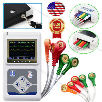CE Approved,3 Channel Dynamic ECG Holter 24 Hours EKG Recorder Analyzer Software