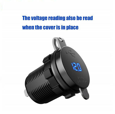 36W C Charger Socket with 5V/3A Quick Charge 3.0 Ports LED Digital Voltmeter