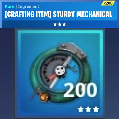 Fortnite 1000x Robuste Mechanikteile - sturdy Mechanical PS4/PC (Save the world)