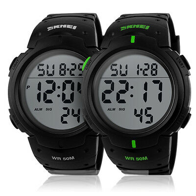 SKMEI Fashion Mens Smart Watches Digital Sports Wrist Watch Waterproof 2019 RY9