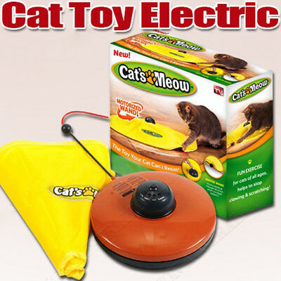 Cat's Meow Electronic Interactive Cats Undercover Fabric Moving Mouse Toys #AU