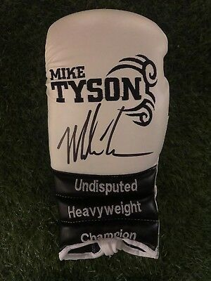 Mike Tyson Signed Boxing Glove World Champion AFTAL COA