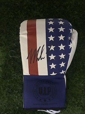 Mike Tyson Signed Boxing Glove World Champion AFTAL Photo Proof COA